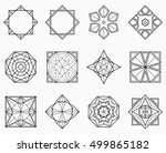 set of geometric elements.... | Shutterstock .eps vector #499865182