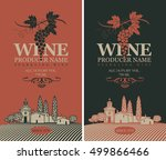 wine labels set with a... | Shutterstock .eps vector #499866466