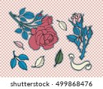 rose tattoo set. sticker  patch ...