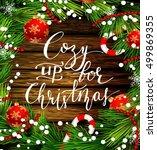 christmas design on wood | Shutterstock .eps vector #499869355