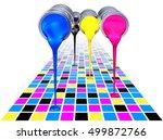 3d rendering of a cmyk color... | Shutterstock . vector #499872766