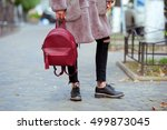fashionable young woman in... | Shutterstock . vector #499873045