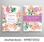 invitation or greeting card... | Shutterstock .eps vector #499873552