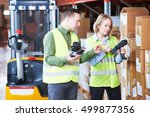 warehouse management system.... | Shutterstock . vector #499877356