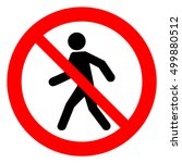 no access for pedestrians... | Shutterstock .eps vector #499880512