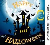 happy halloween. illustration | Shutterstock . vector #499881052