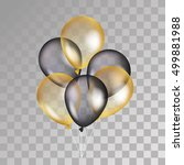 gold and black balloon on... | Shutterstock .eps vector #499881988