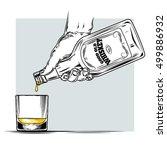 vector illustration of whiskey... | Shutterstock .eps vector #499886932