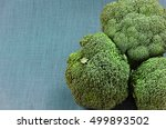 green broccoli on a fabric...   Shutterstock . vector #499893502