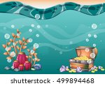 cartoon vector underwater... | Shutterstock .eps vector #499894468