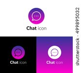 chat icon  logo with violet...