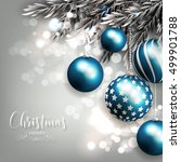 merry christmas greeting card... | Shutterstock .eps vector #499901788