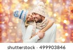 winter  holidays  couple ... | Shutterstock . vector #499903846