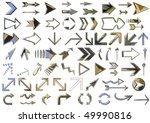 arrows set silver isolated on... | Shutterstock . vector #49990816