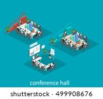 business meeting in an office... | Shutterstock .eps vector #499908676