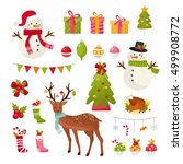 big set of christmas elements.... | Shutterstock .eps vector #499908772