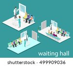 waiting room in hospital.... | Shutterstock .eps vector #499909036