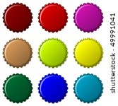 bottle caps in colors isolated... | Shutterstock .eps vector #49991041