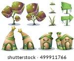 cartoon vector nature landscape ...   Shutterstock .eps vector #499911766