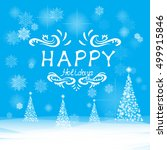 christmas and new year's... | Shutterstock .eps vector #499915846