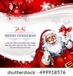 vintage christmas card design... | Shutterstock .eps vector #499918576