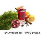 Mulled Wine With Spices On A...