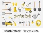 organic farming. tools for... | Shutterstock .eps vector #499919326