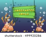 cartoon vector underwater...