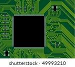green circuit board vector... | Shutterstock .eps vector #49993210