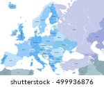 europe high detailed vector... | Shutterstock .eps vector #499936876