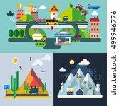 modern flat design conceptual... | Shutterstock .eps vector #499946776
