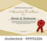 award of excellence with wax...   Shutterstock .eps vector #499952206