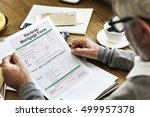reverse mortgage form payslip...   Shutterstock . vector #499957378