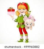 cute girl elf santa's assistant ...