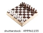 chess pieces on the board on a... | Shutterstock . vector #499961155