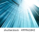 panoramic and perspective wide... | Shutterstock . vector #499961842