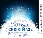 christmas and new year... | Shutterstock .eps vector #499970302