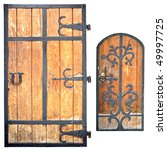 The Old Doors Of Monastery Are...