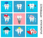 Set Of Funny Icons Of Teeth....