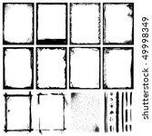 set of frames  textures  lines  ... | Shutterstock .eps vector #49998349