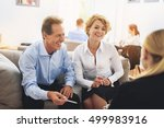 smart colleagues communicating... | Shutterstock . vector #499983916