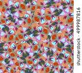 multicolor ornament of small... | Shutterstock . vector #499987816