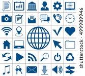 web universal icons set... | Shutterstock .eps vector #499989946