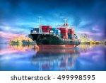logistics and transportation of ...   Shutterstock . vector #499998595