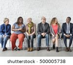 diverse group of people... | Shutterstock . vector #500005738