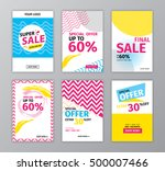 colorful eye catching social... | Shutterstock .eps vector #500007466