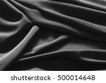 luxurious black satin... | Shutterstock . vector #500014648