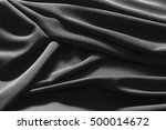 luxurious black satin...   Shutterstock . vector #500014672