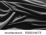 luxurious black satin... | Shutterstock . vector #500014675