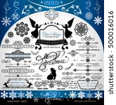 christmas and new year... | Shutterstock .eps vector #500016016